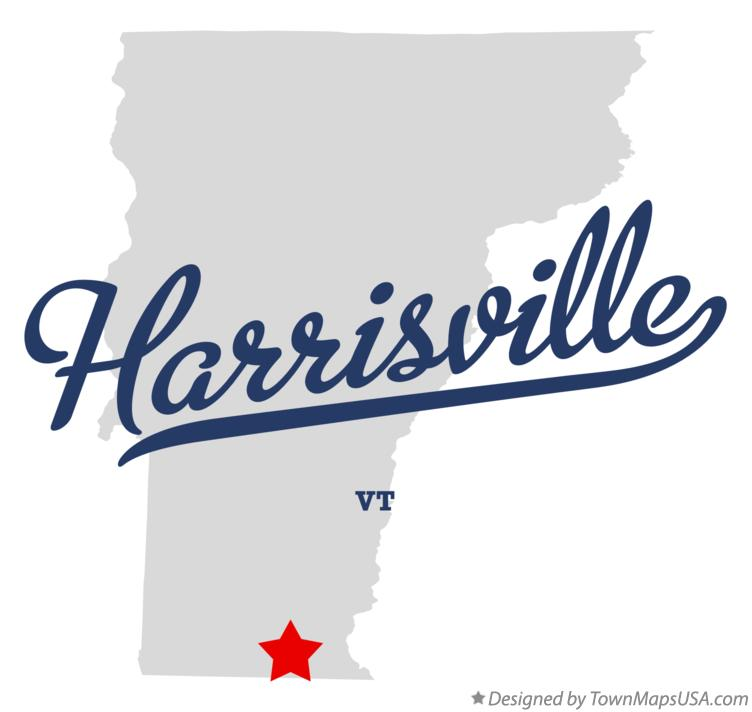 Map of Harrisville Vermont VT
