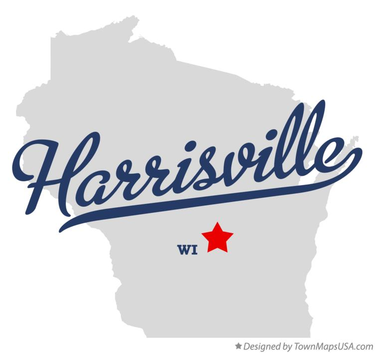 Map of Harrisville Wisconsin WI