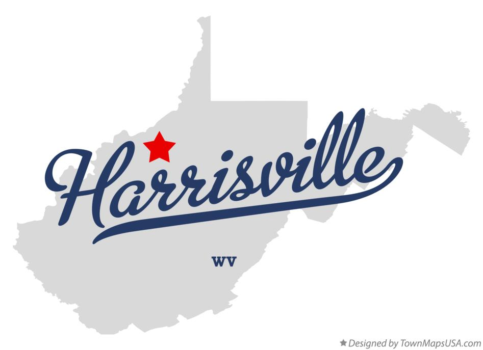 Map of Harrisville West Virginia WV