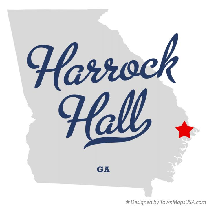 Map of Harrock Hall Georgia GA