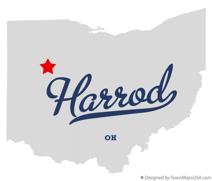 Map of Harrod Ohio OH