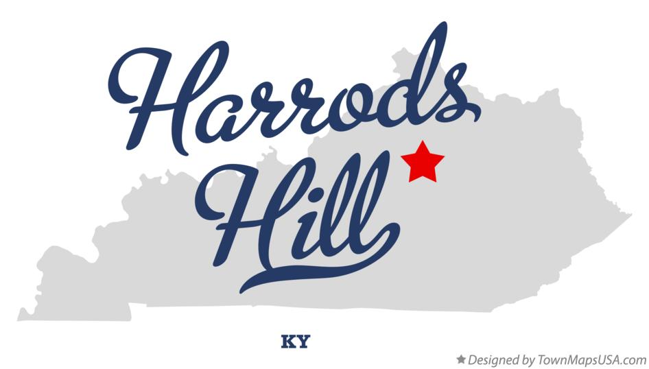 Map of Harrods Hill Kentucky KY