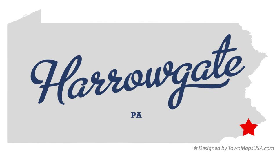Map of Harrowgate Pennsylvania PA