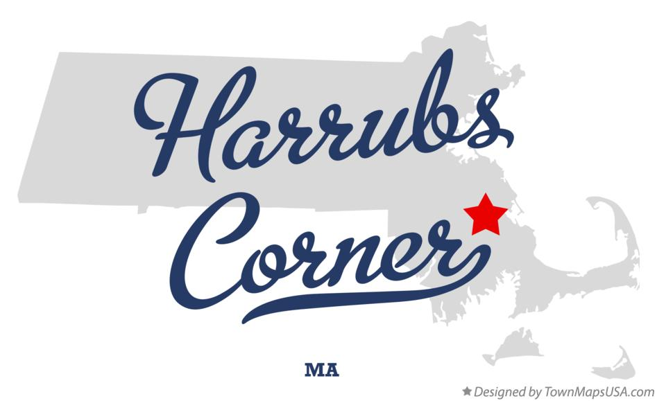 Map of Harrubs Corner Massachusetts MA