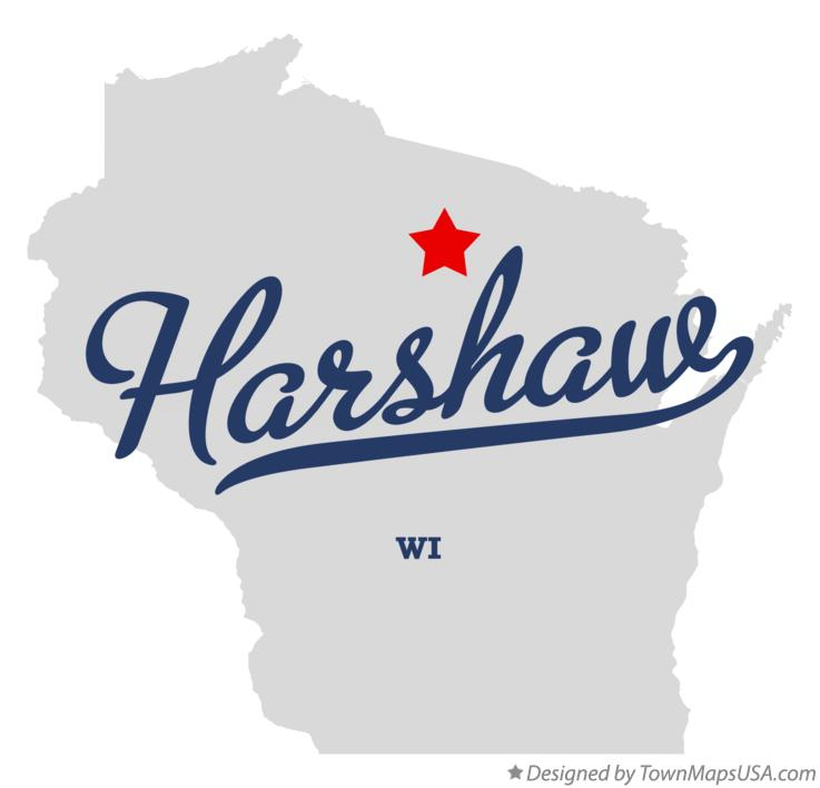 Map of Harshaw Wisconsin WI