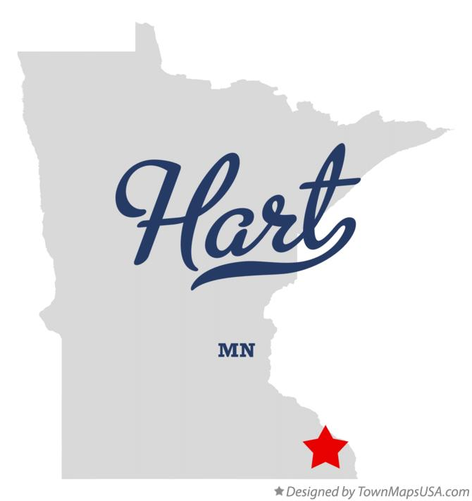 Map of Hart Minnesota MN