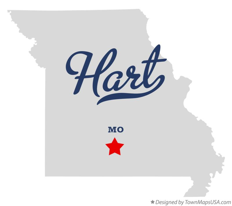 Map of Hart Missouri MO