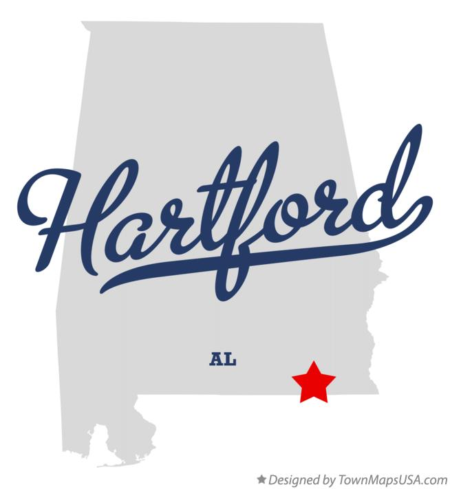 Map of Hartford Alabama AL