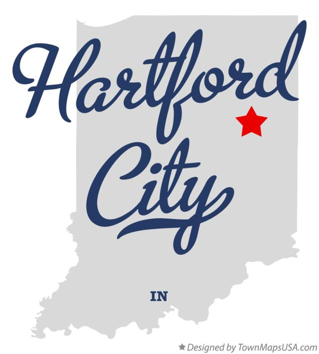 Map of Hartford City Indiana IN
