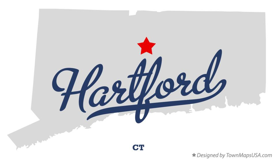 Map of Hartford, CT, Connecticut