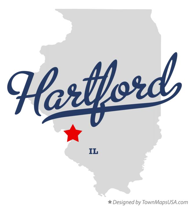 Map of Hartford Illinois IL