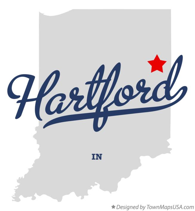 Map of Hartford Indiana IN