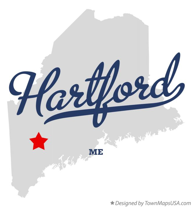 Map of Hartford Maine ME