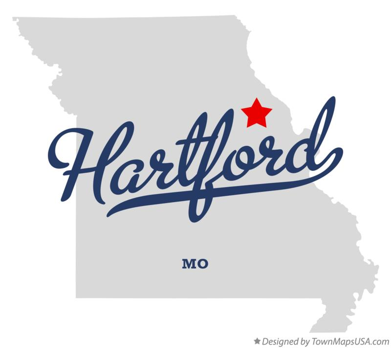 Map of Hartford Missouri MO