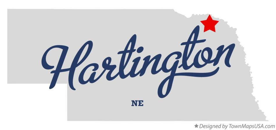 Map of Hartington Nebraska NE