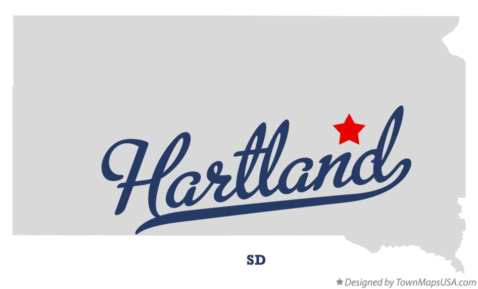 Map of Hartland South Dakota SD