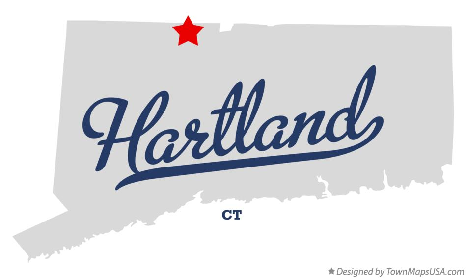 Map of Hartland Connecticut CT