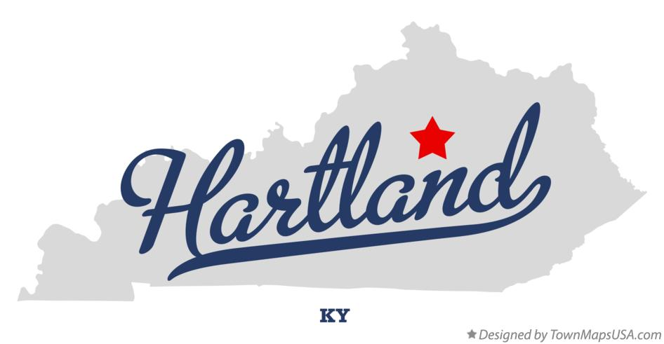 Map of Hartland Kentucky KY
