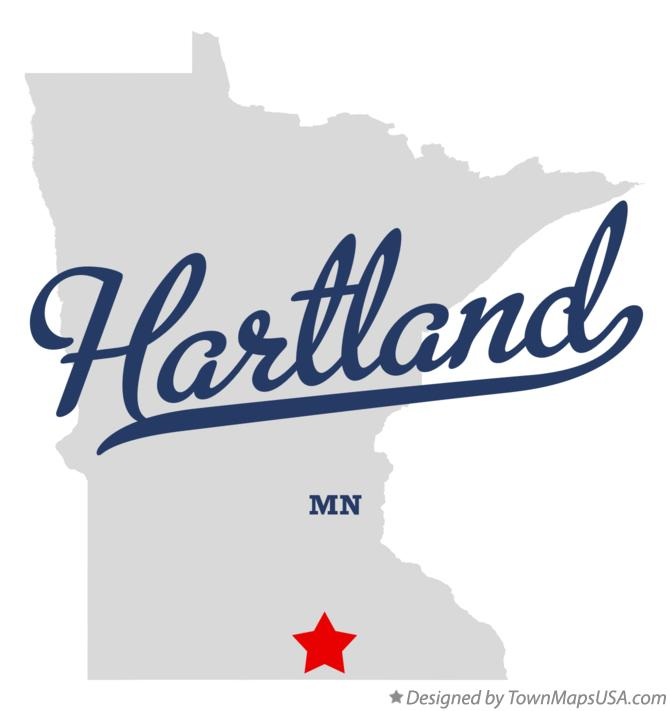 Map of Hartland Minnesota MN