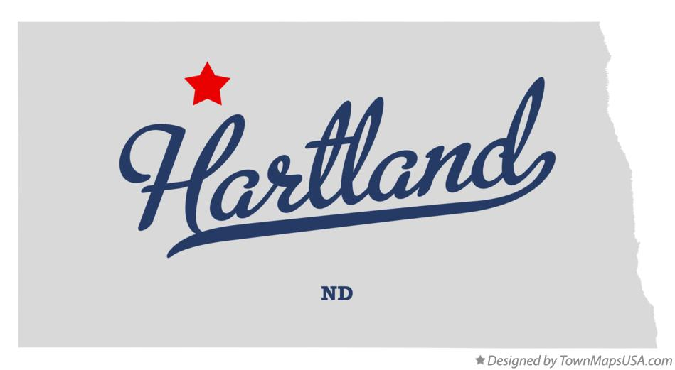 Map of Hartland North Dakota ND