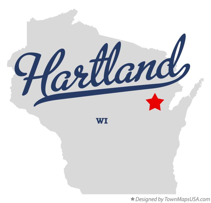 Map of Hartland Wisconsin WI