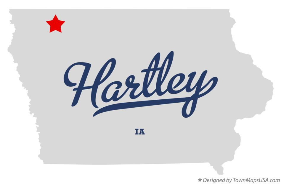 Map of Hartley Iowa IA