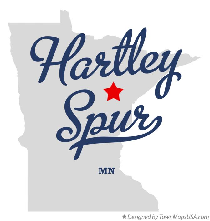 Map of Hartley Spur Minnesota MN