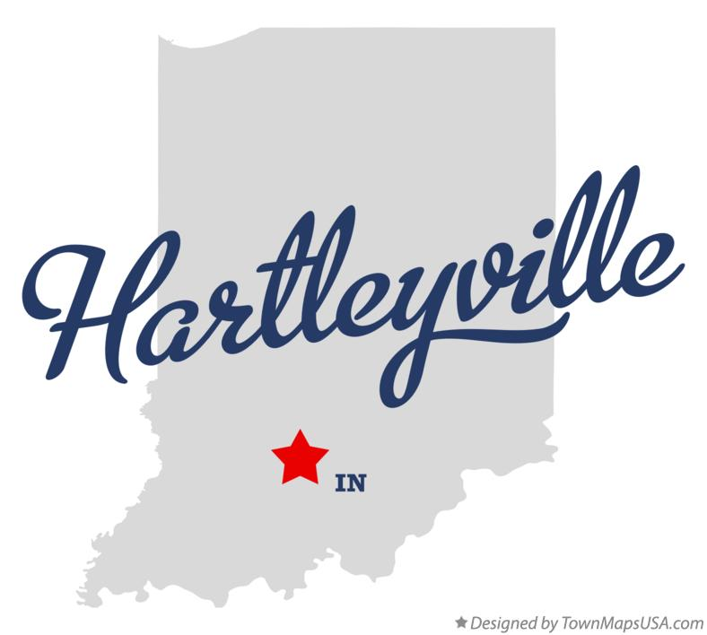 Map of Hartleyville Indiana IN