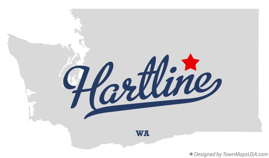 Map of Hartline Washington WA