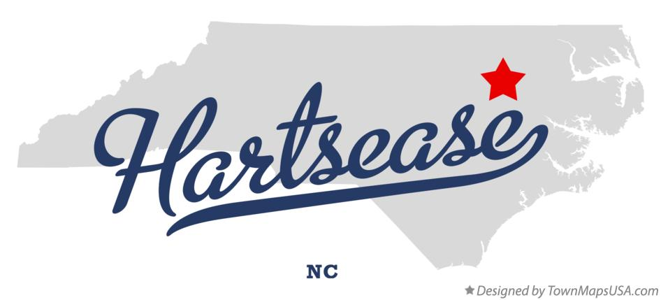 Map of Hartsease North Carolina NC