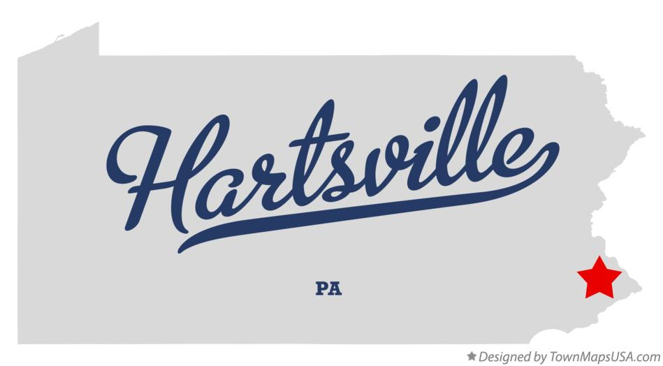 Map of Hartsville Pennsylvania PA
