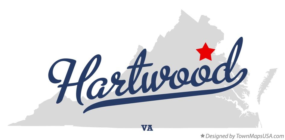 Map of Hartwood Virginia VA