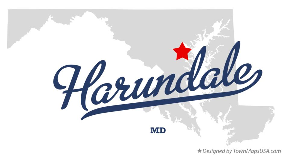 Map of Harundale Maryland MD