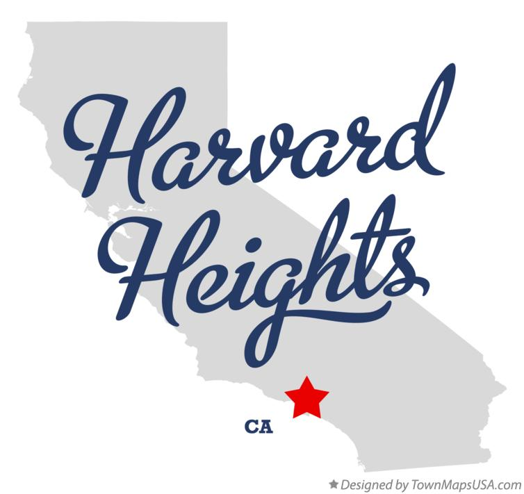 Map of Harvard Heights California CA