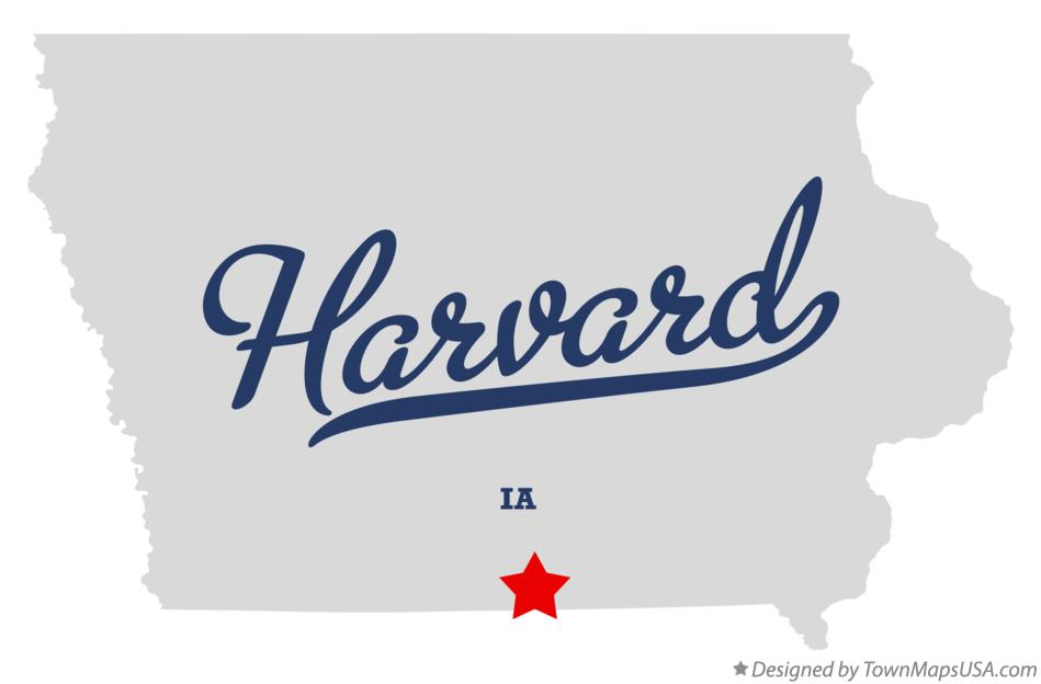 Map of Harvard Iowa IA