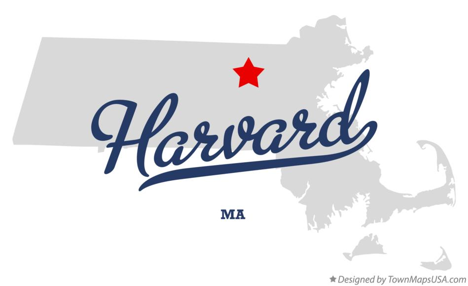 Map of Harvard Massachusetts MA