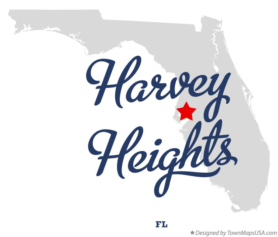 Map of Harvey Heights Florida FL
