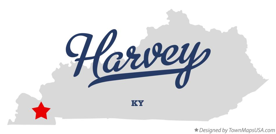 Map of Harvey Kentucky KY