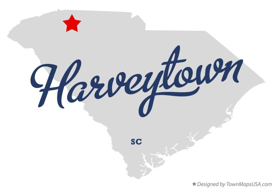 Map of Harveytown South Carolina SC