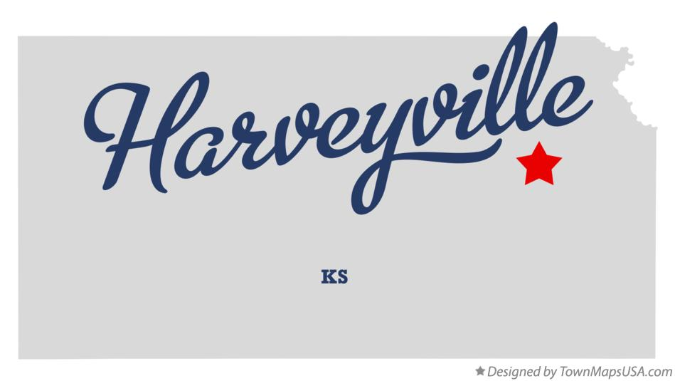 Map of Harveyville Kansas KS