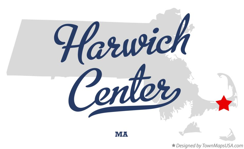 Map of Harwich Center Massachusetts MA