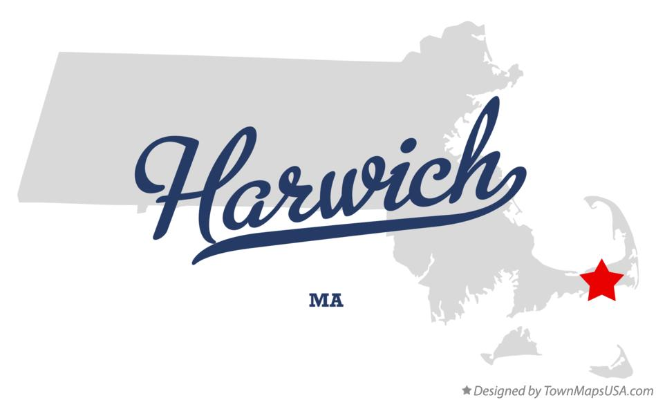 Map of Harwich Massachusetts MA