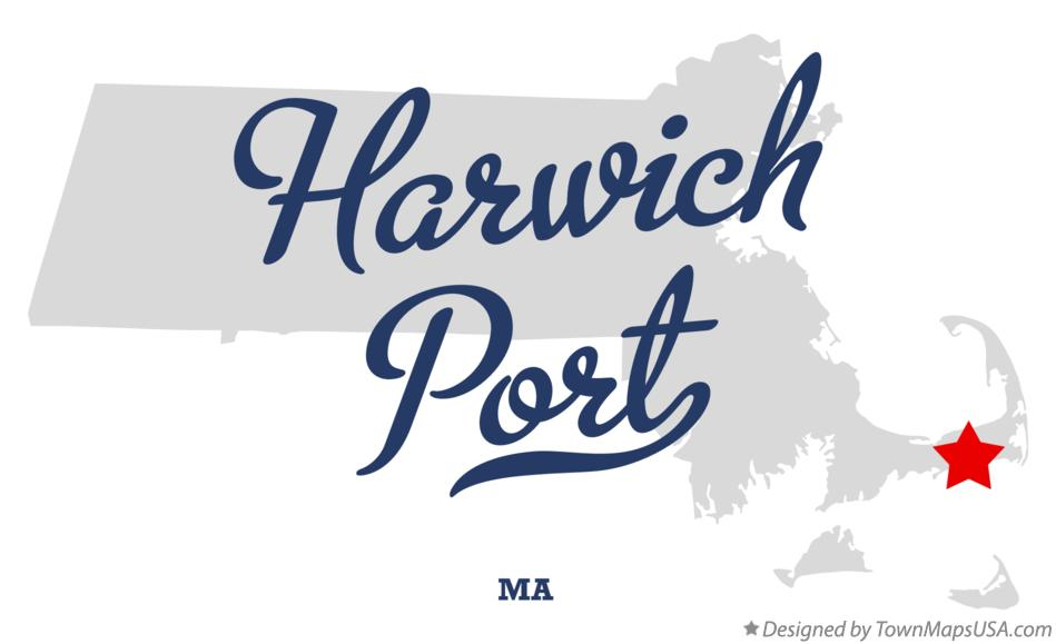 Map of Harwich Port Massachusetts MA