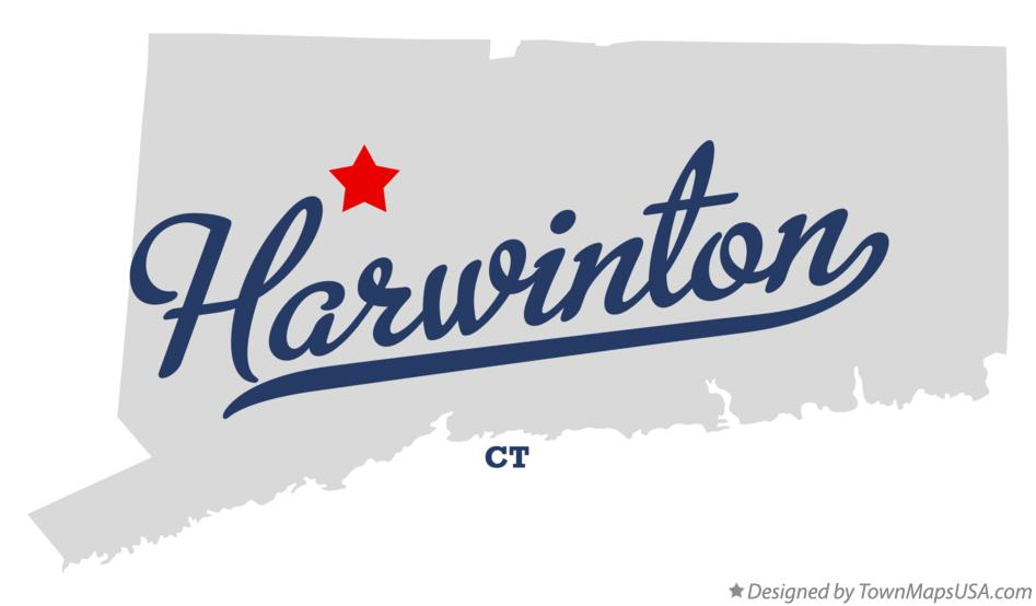 Map of Harwinton Connecticut CT