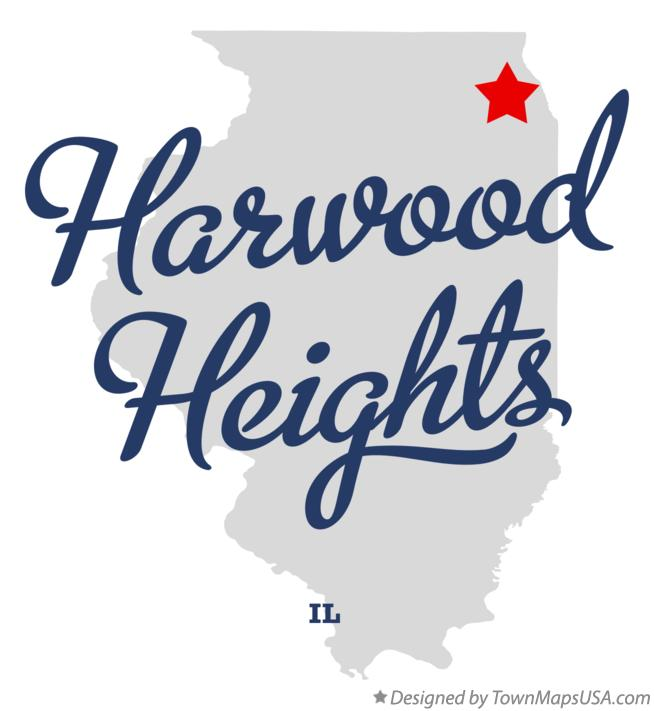 Map of Harwood Heights Illinois IL