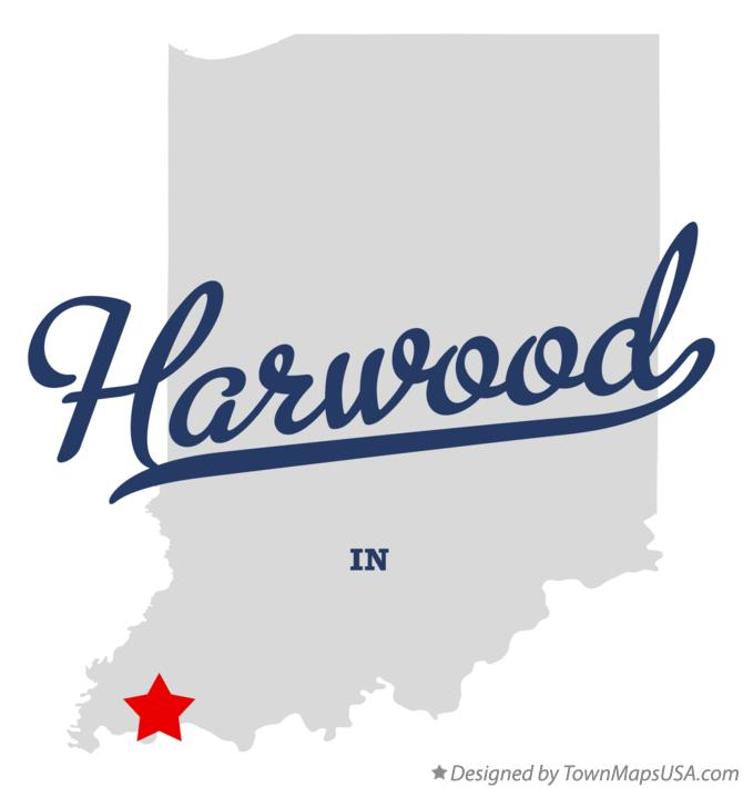 Map of Harwood Indiana IN