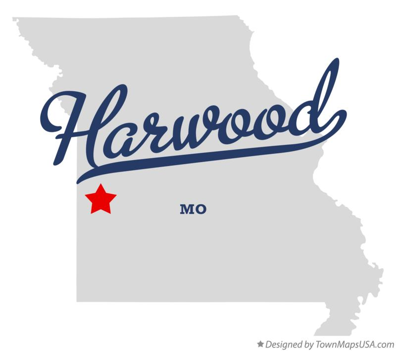 Map of Harwood Missouri MO