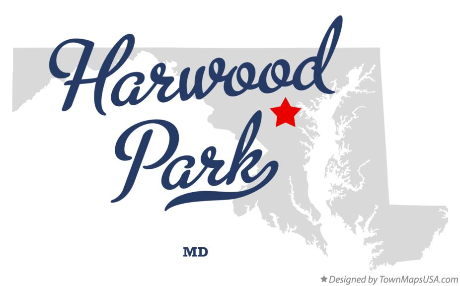 Map of Harwood Park Maryland MD