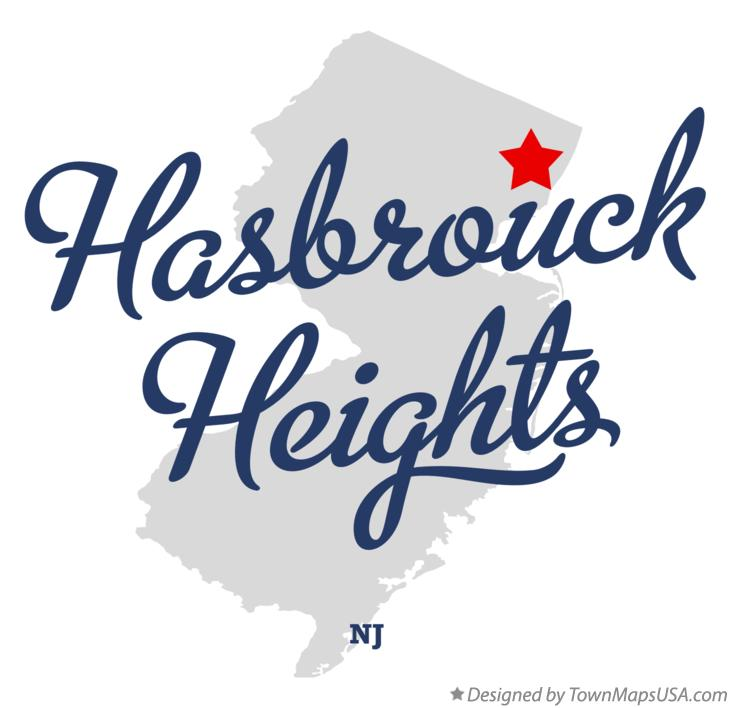 Map of Hasbrouck Heights New Jersey NJ