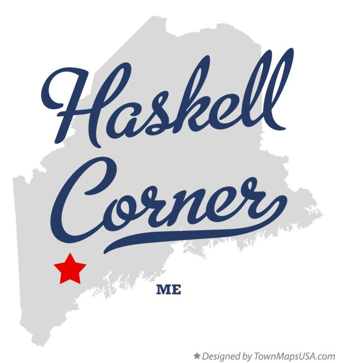 Map of Haskell Corner Maine ME